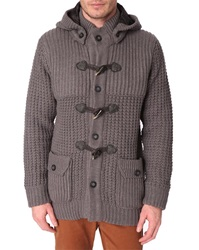 Menlook Label Aaron Grey Thick Weave Coat