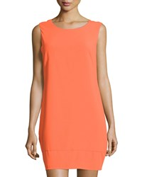 Laundry By Shelli Segal Cutout Back Sleeveless Sheath Dress Pop Orange