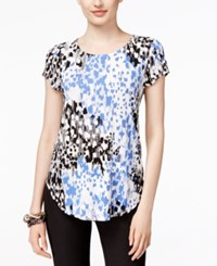 Alfani Petite Printed T Shirt Only At Macy's Etched Spots