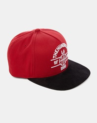 The Hundreds Streak Snapback Red