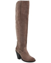 Mia Nigel Over The Knee Boots Women's Shoes Taupe