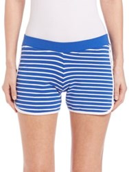 Moschino Stripes And Patch Jogger Shorts