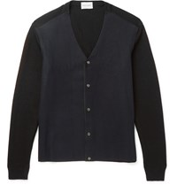 Solid Homme Two Tone Wool Blend Cardigan Blue