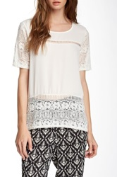 Romeo And Juliet Couture Lace Panel Blouse White