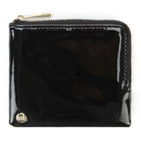Mi Pac Gold Patent Coin Holder Black