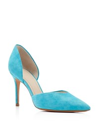 Marc Fisher Ltd. Tammy D'orsay Pointed Toe Pumps Blue
