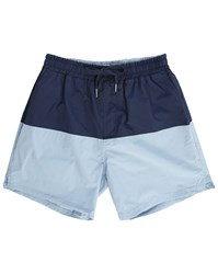 Minimum Sky Blue And Navy Covala Swim Suit With Jock Strap