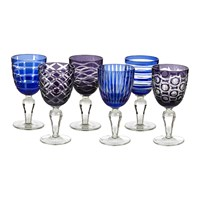 Pols Potten Wine Glass Cobalt Set Of 6