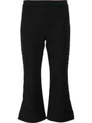 Jonathan Simkhai Lace Up Detailing Flared Trousers Black