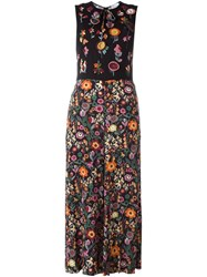 Red Valentino Embroidered Jumpsuit Black
