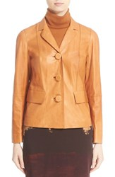 Lafayette 148 New York Women's 'Evia' Lambskin Leather Jacket