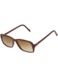 Yves Saint Laurent Vintage Rectangle Frame Sunglasses Brown
