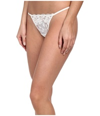 Betsey Johnson Starlet Lace Thong Pearl Women's Underwear White