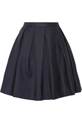 Burberry Pleated Wool And Silk Blend Mini Skirt