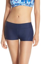 Women's Zella Boyshort Swim Bottoms Navy Eclipse