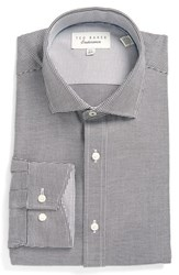 Ted Baker Men's Big And Tall London Trim Fit Texture Dress Shirt