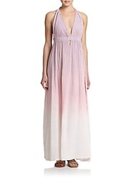 Loveshackfancy Ombre Cotton Maxi Dress Dusty Rose