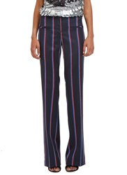 Altuzarra Serge Striped Flared Pants Navy