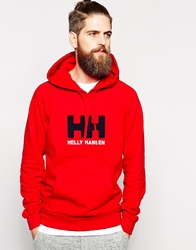 Helly Hansen Hoodie With Logo Red