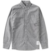 Denim By Vanquish And Fragment Button Down Selvedge Shirt Black