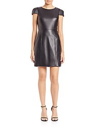 4.Collective Kate Faux Leather Sheath Black