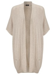 Gerry Weber Longline Wool Blend Cardigan Pebble