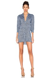 Line And Dot Ravie Shirt Dress Blue