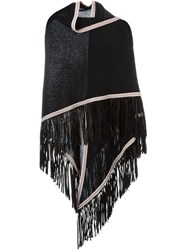 Antonia Zander Fringed Shawl Black