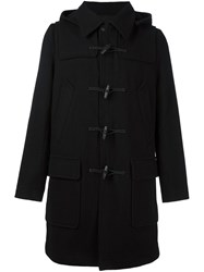Ami Alexandre Mattiussi Hooded Duffle Coat Black