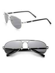 Montblanc 61Mm Aviator Sunglasses Palladium