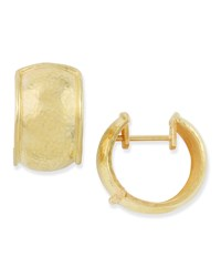 19K Gold Curved Hoop Earrings Elizabeth Locke