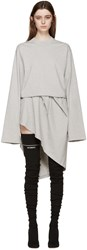 Vetements Grey Jersey Wrap Dress