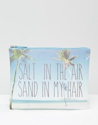 South Beach Palm Tree Printed Pouch Multi