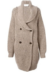 Chloe Chloe Double Breasted Cardigan Nude And Neutrals