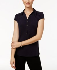 Charter Club Polo Top Only At Macy's Deepest Navy