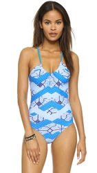 Minkpink Indigo Waters Crossover One Piece Multi