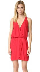 Wayf Wrap Front Dress Red