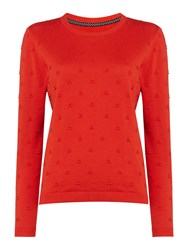 Dickins And Jones Francine French Knot Jumper Brick