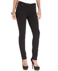 Vince Camuto Two By Ponte Knit Skinny Leg Jeans Rich Black