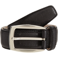 Brioni Textured Dress Belt Black