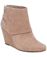 Jessica Simpson Reaca Wedge Booties Women's Shoes Warm Taupe