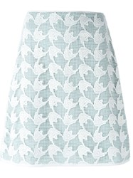 Tory Burch Crochet Overlay Skirt White