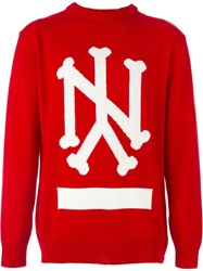 Ejxiii Intarsia Knit Sweater Red