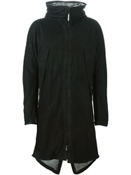 Isaac Sellam Experience Leather Parka Black