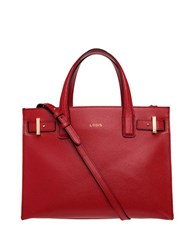 Lodis Stephanie Tara Medium Leather Satchel Red