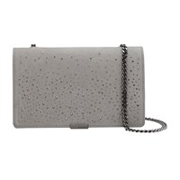 Ted Baker Avianna Studded Across Body Chain Strap Evening Bag Grey