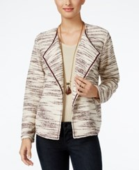 Styleandco. Style Co. Space Dyed Draped Jacket Only At Macy's Dried Plum