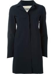 Herno Classic Single Breasted Coat Blue