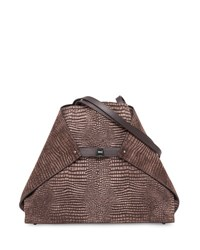 Akris Ai Reversible Medium Soft Shoulder Bag Brown