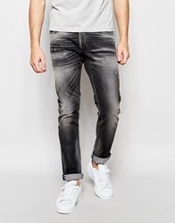 Jack And Jones Jack And Jones Slim Fit Jeans With Rips Black